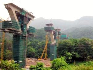 Construction at Yamba Dam site