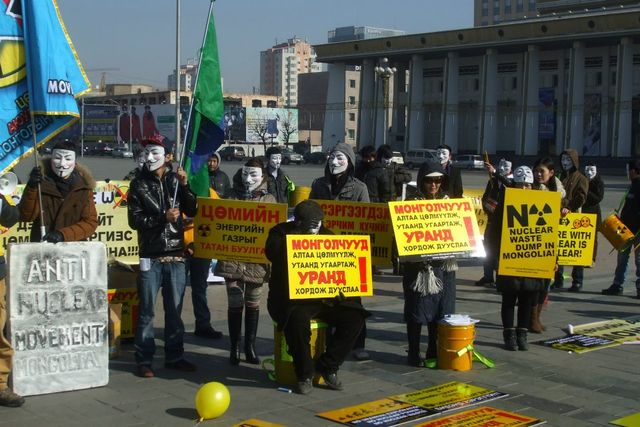 Anti-nuclear protest in Mongolia