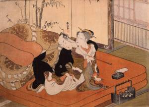 A fairly tame example of shunga