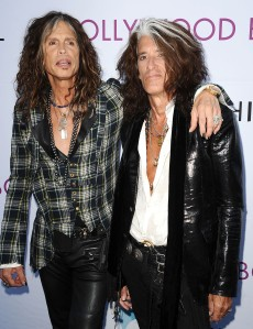 LOS ANGELES, CA - JUNE 22: Steven Tyler and Joe Perry of Aerosmith attends the Hollywood Bowl opening night celebration at The Hollywood Bowl on June 22, 2013 in Los Angeles, California. (Photo by Jason LaVeris/FilmMagic)